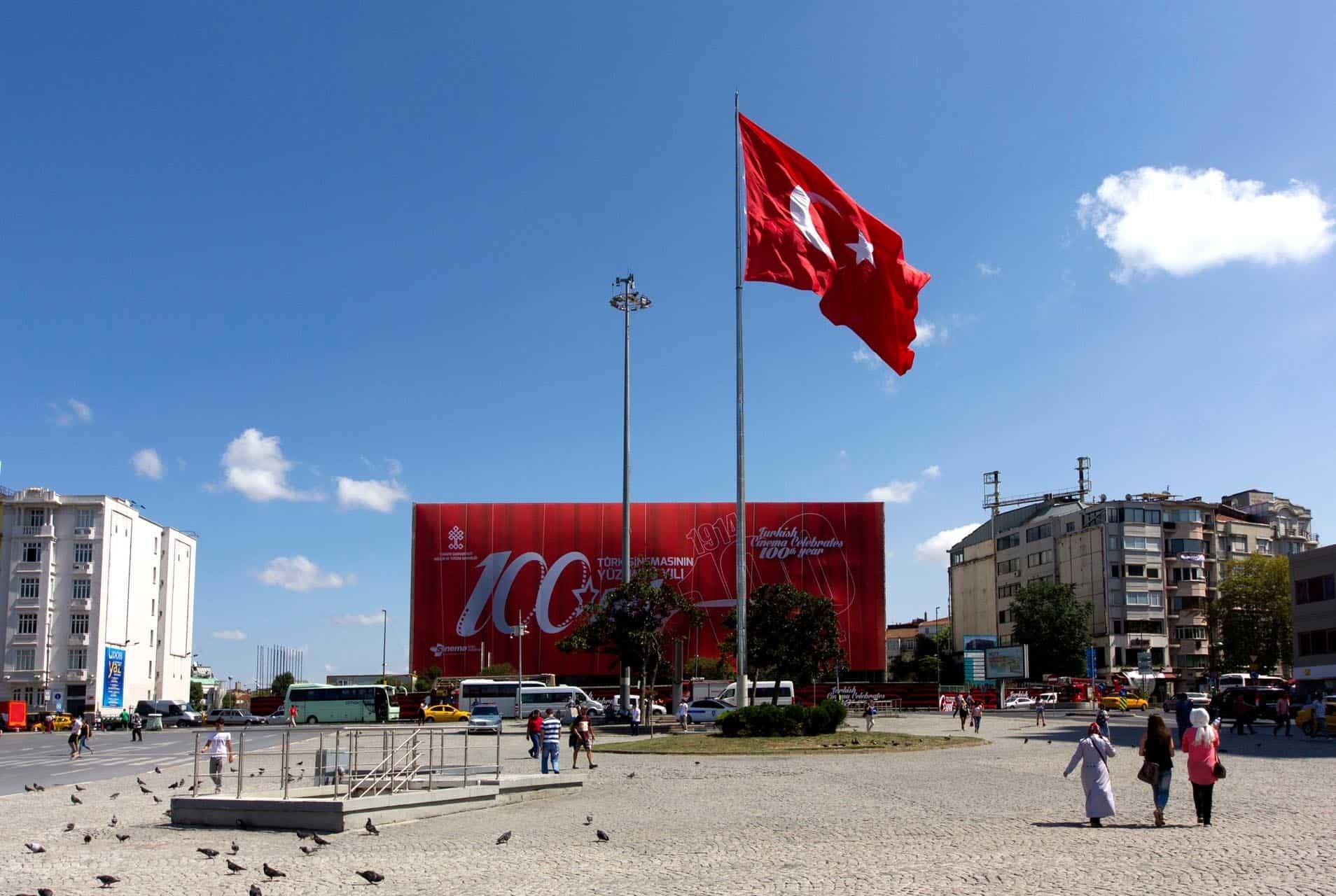 istanbul taksim ataturk kultur merkezi bina giydirme10 - İstanbul Taksim AKM Binası Giydirme