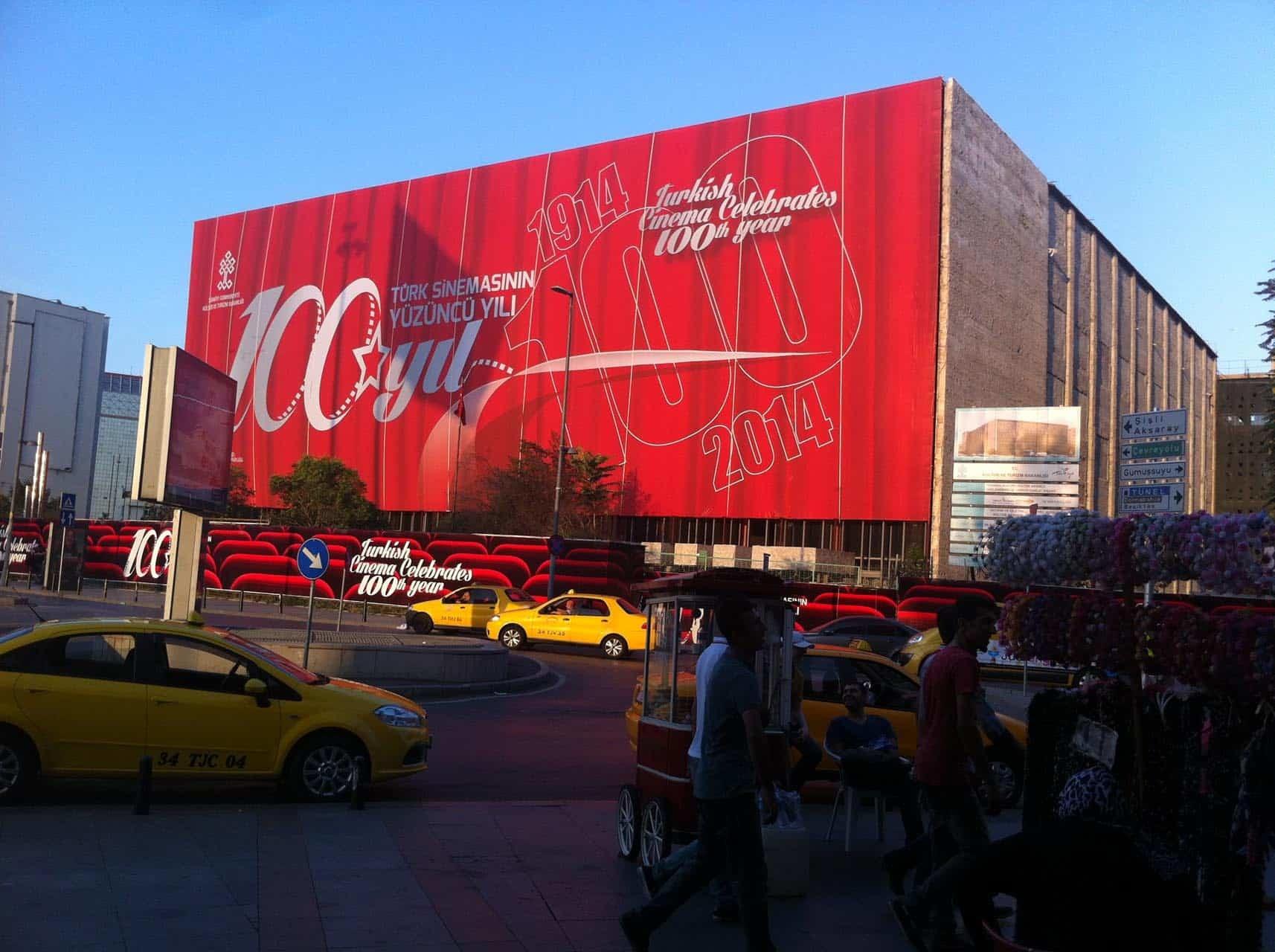 istanbul taksim ataturk kultur merkezi bina giydirme14 - İstanbul Taksim AKM Binası Giydirme