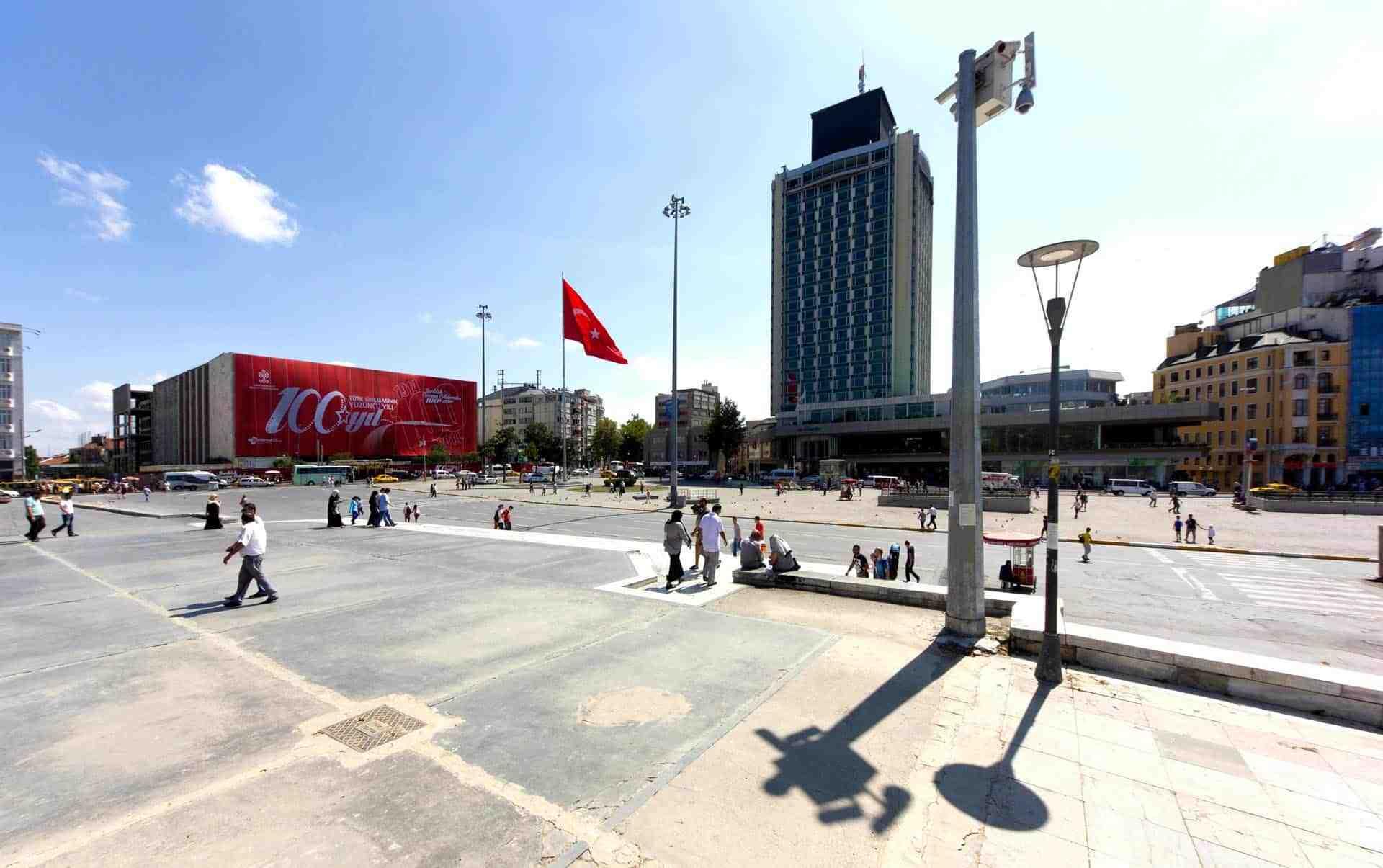 istanbul taksim ataturk kultur merkezi bina giydirme8 - İstanbul Taksim AKM Binası Giydirme