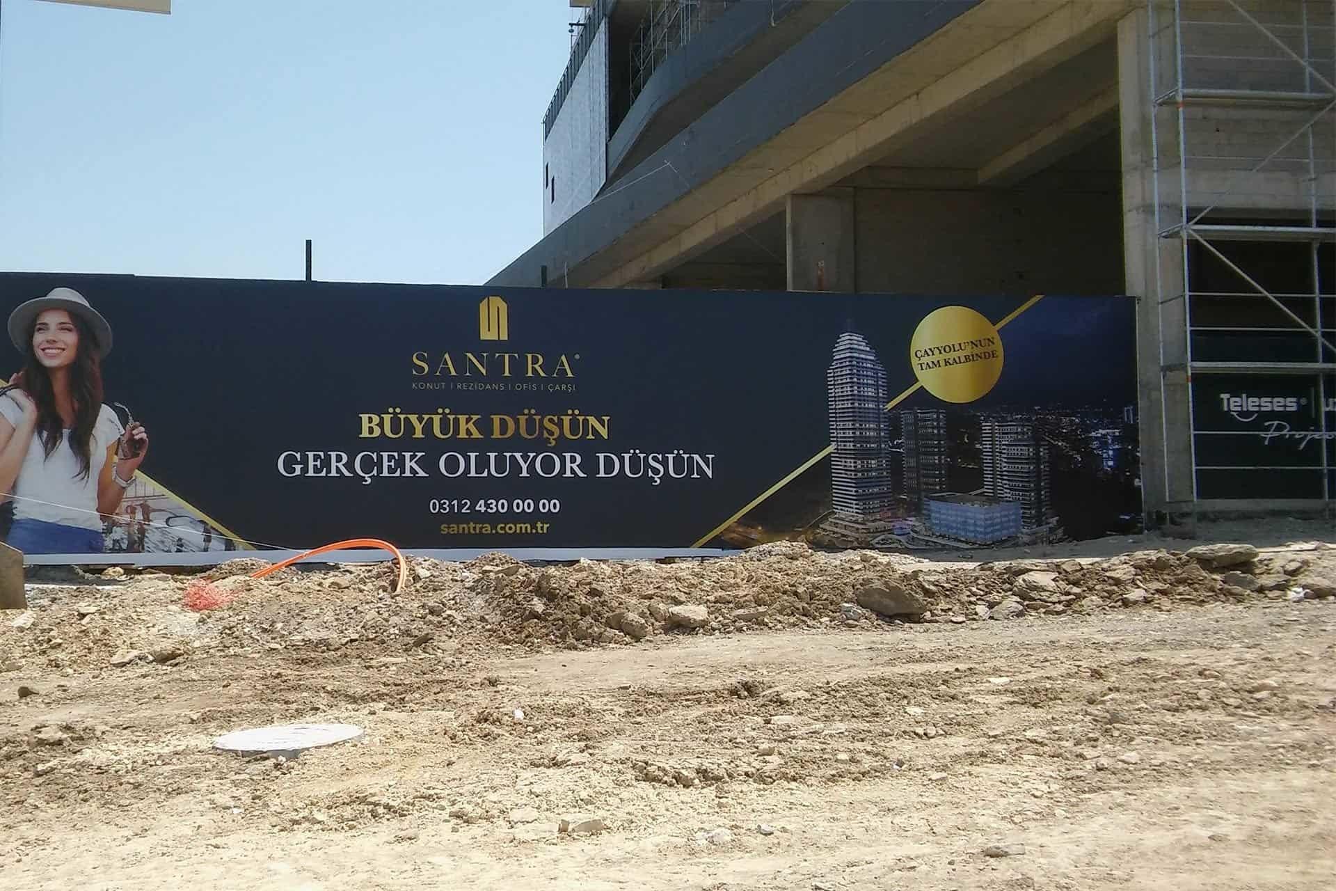 santra konut rezidans ofis insaat reklam duvar baskilari8 - Santra Konut Rezidans İnşaat Duvar Reklam Baskıları